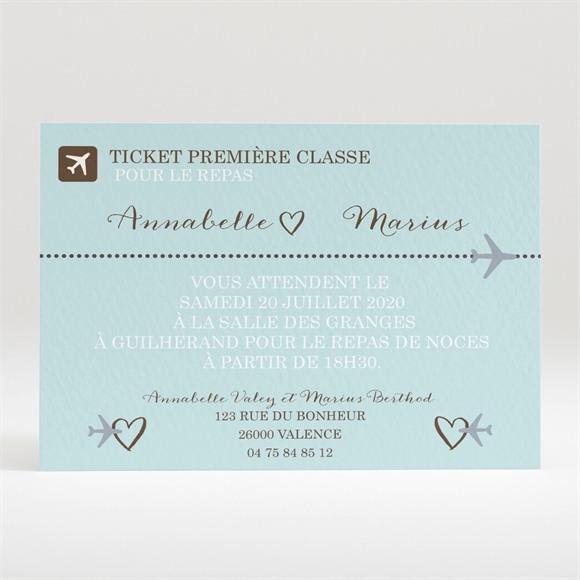 Carton d'invitation mariage Ticket première classe réf.N120269