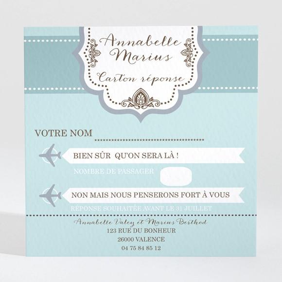 Carton réponse mariage Ticket première classe réf.N300329