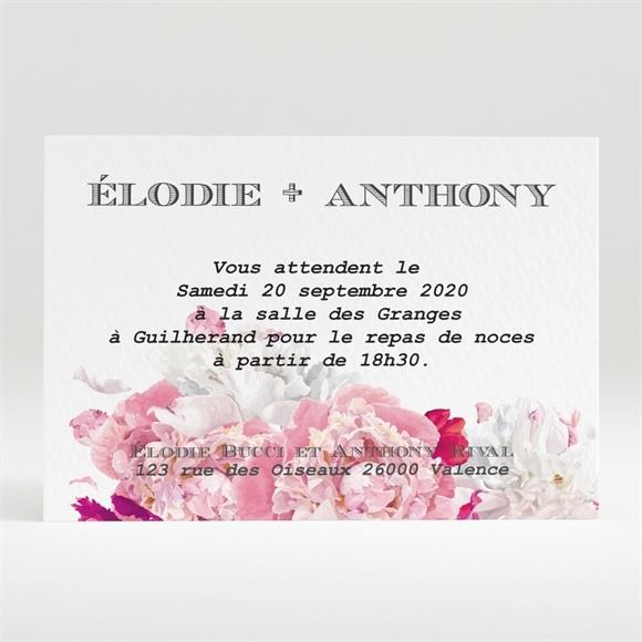 Carton d'invitation mariage Floral réf.N120270