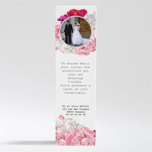 Remerciement mariage Floral réf.N200298