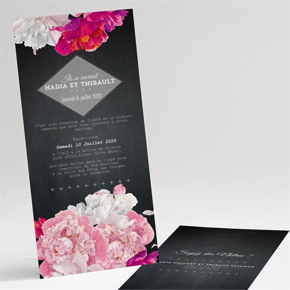 Faire-part mariage Fleurs modernes réf.N22119
