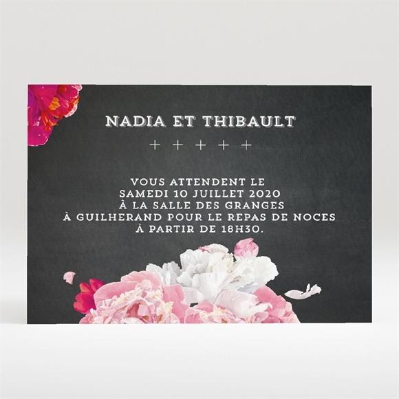 Carton d'invitation mariage Fleurs modernes réf.N120274