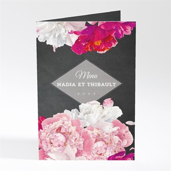 Menu mariage Fleurs modernes réf.N401406