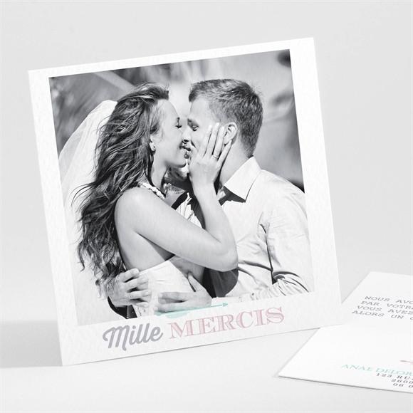 Remerciement mariage Motifs et jeu typographique réf.N30110