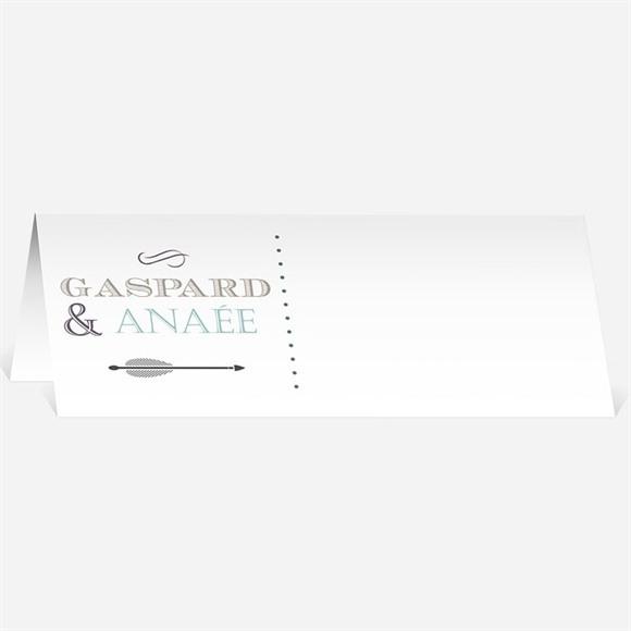Marque-place mariage Motifs et jeu typographique réf.N440351