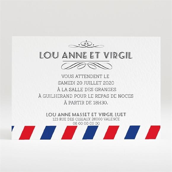 Carton d'invitation mariage Destination bonheur réf.N120277