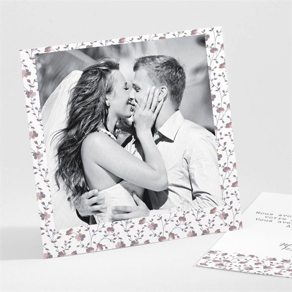 Remerciement mariage Liberty romantique réf.N30112