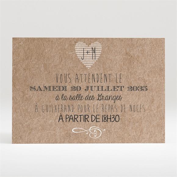 Carton d'invitation mariage Kraft en folie réf.N120280