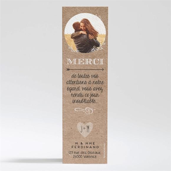 Remerciement mariage Kraft en folie réf.N200302