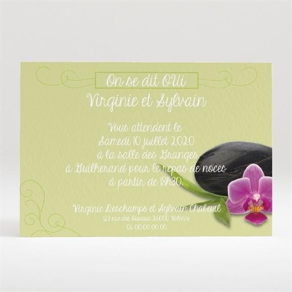 Carton d'invitation mariage Zen et Naturel réf.N120281