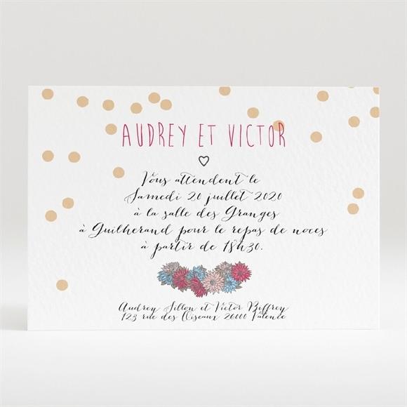 Carton d'invitation mariage Tendance et délicat réf.N120282