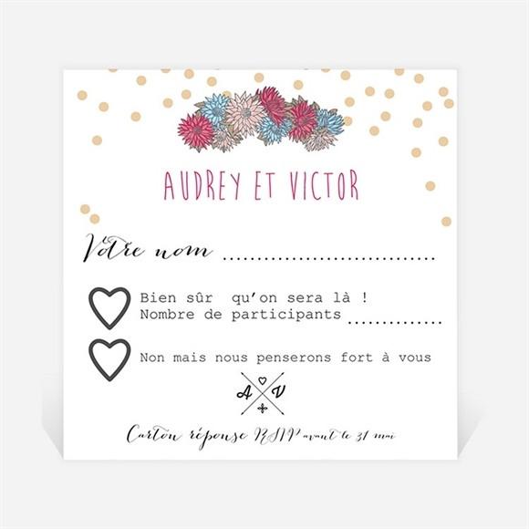 Carton réponse mariage Tendance et délicat réf.N300342