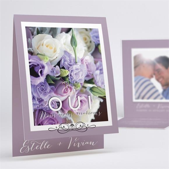 Faire-part mariage Décoration florale réf.N50143