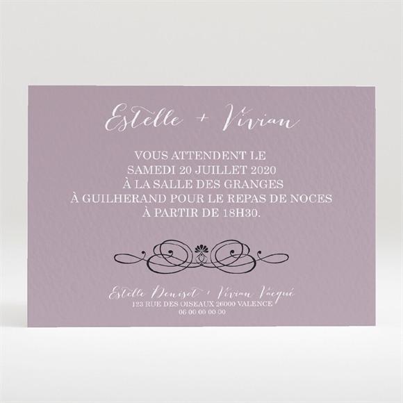 Carton d'invitation mariage Décoration florale réf.N120283