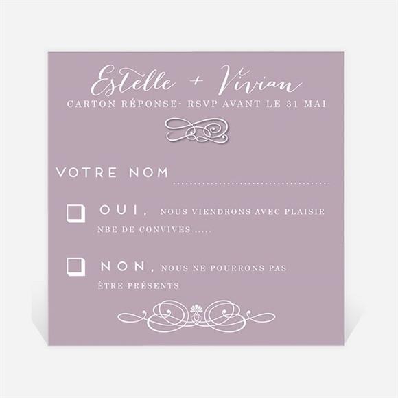 Carton réponse mariage Décoration florale réf.N300343