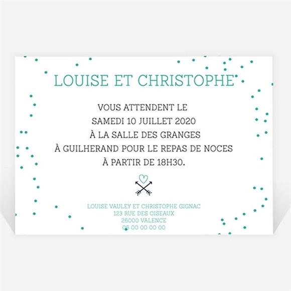 Carton d'invitation mariage Camaïeu réf.N120284