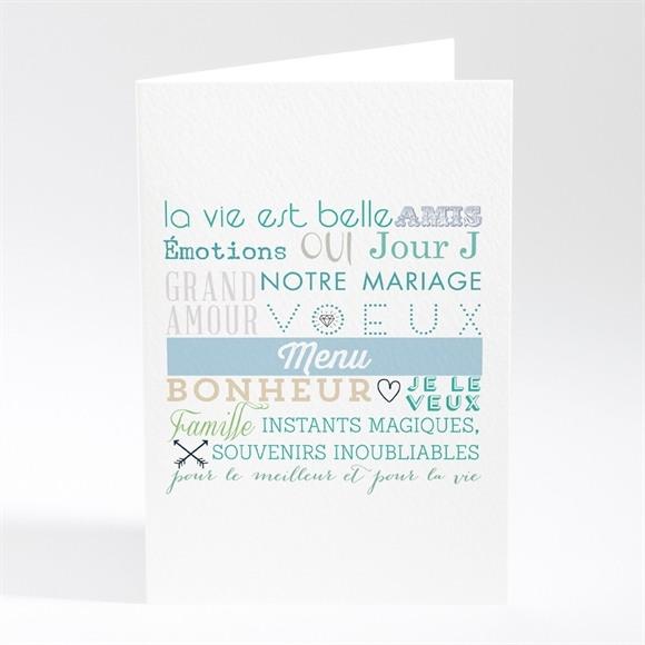 Menu mariage Camaïeu réf.N401417