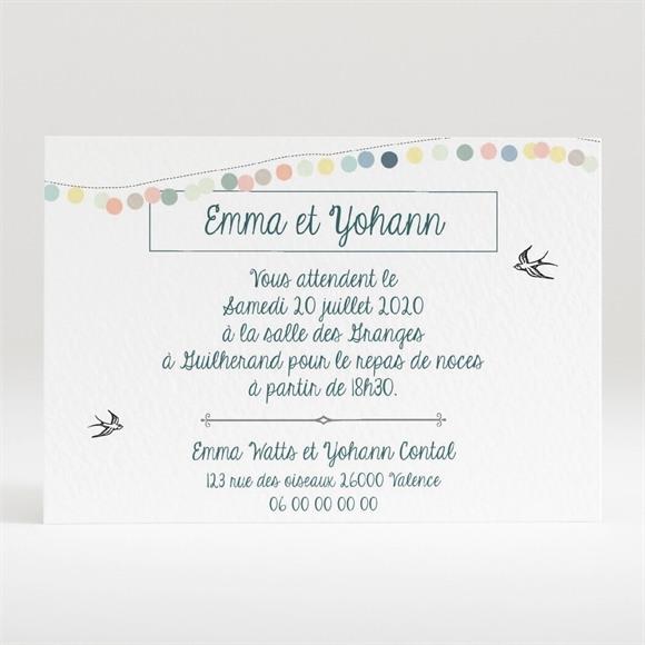 Carton d'invitation mariage Guirlande de pastels réf.N120286