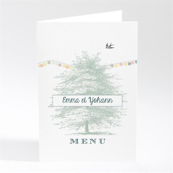 Menu mariage Guirlande de pastels réf.N401419