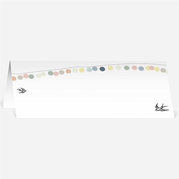 Marque-place mariage Guirlande de pastels réf.N440361