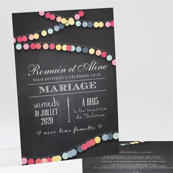 Faire-part mariage Ardoise créative réf.N24167