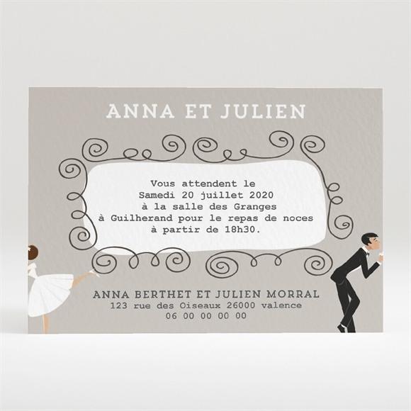 Carton d'invitation mariage Humour et romantisme réf.N120288
