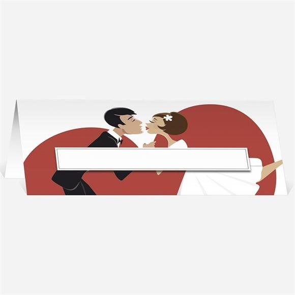 Marque-place mariage Humour et romantisme réf.N440363