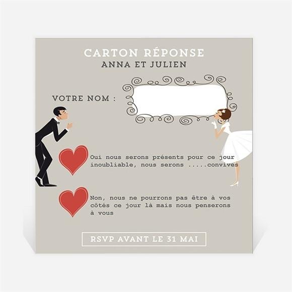 Carton réponse mariage Humour et romantisme réf.N300348
