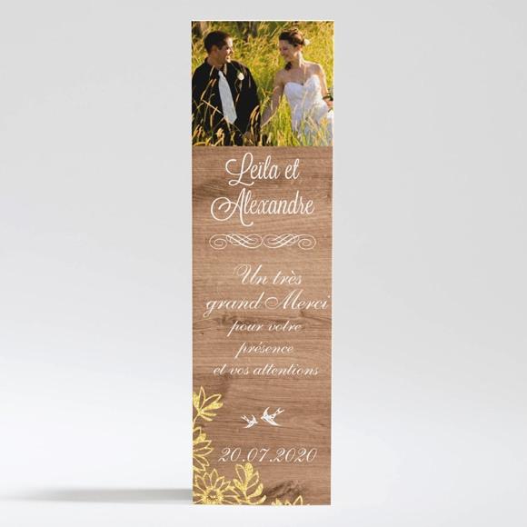 Remerciement mariage Fond en bois réf.N200307