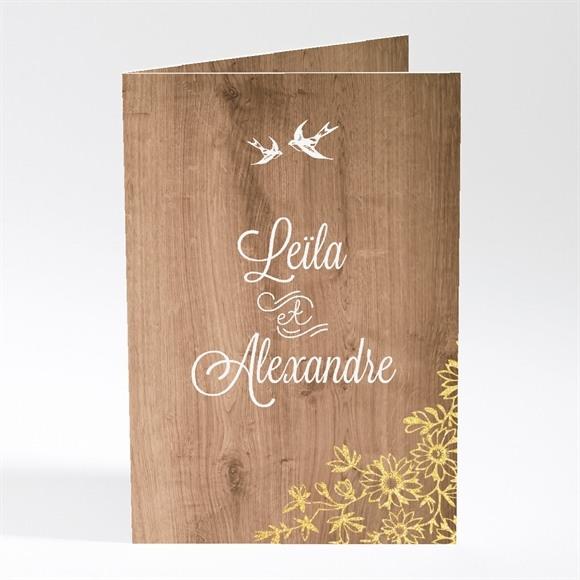 Menu mariage Fond en bois réf.N401423