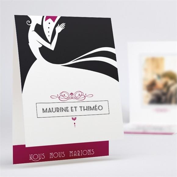 Faire-part mariage Contraste des couleurs réf.N50145