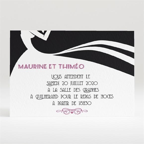 Carton d'invitation mariage Contraste des couleurs réf.N120289