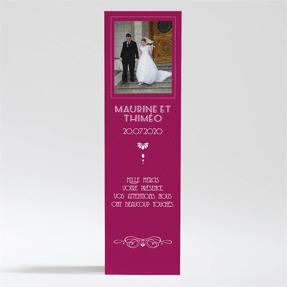 Remerciement mariage Contraste des couleurs réf.N200306