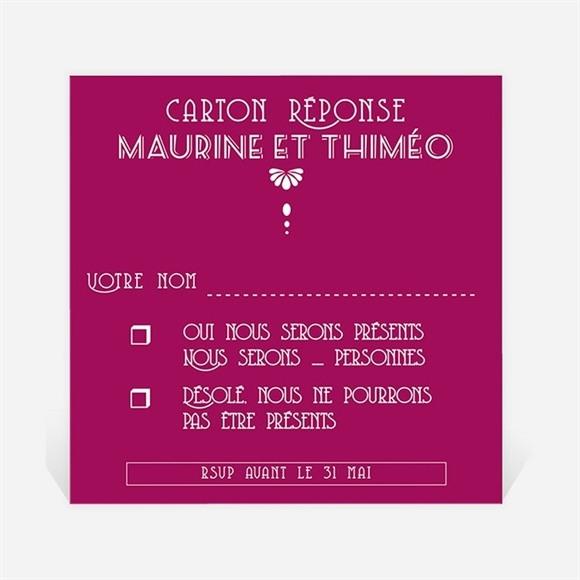 Carton réponse mariage Contraste des couleurs réf.N300349