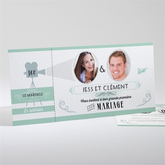 Faire-part mariage Ticket cinema réf.N13130