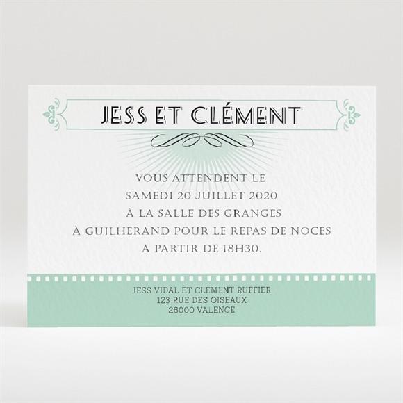 Carton d'invitation mariage Ticket cinema réf.N120292