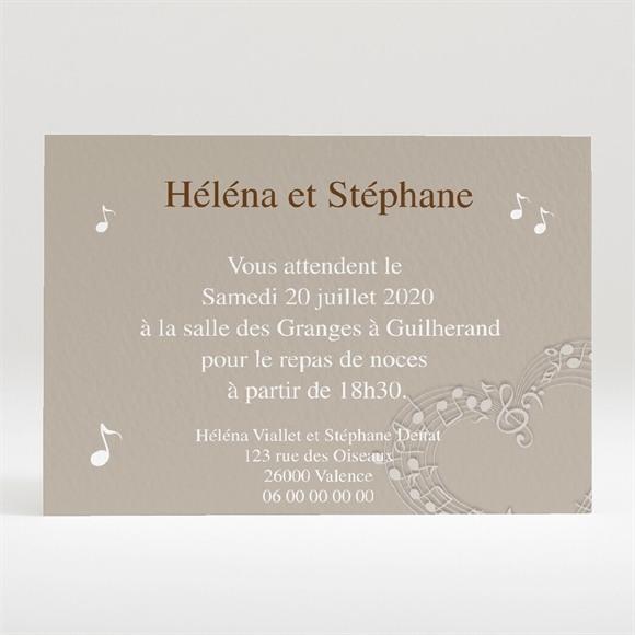 Carton d'invitation mariage Thème musical réf.N120296