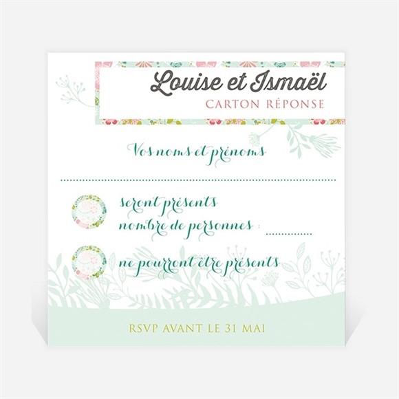 Carton réponse mariage Le Printemps réf.N300359