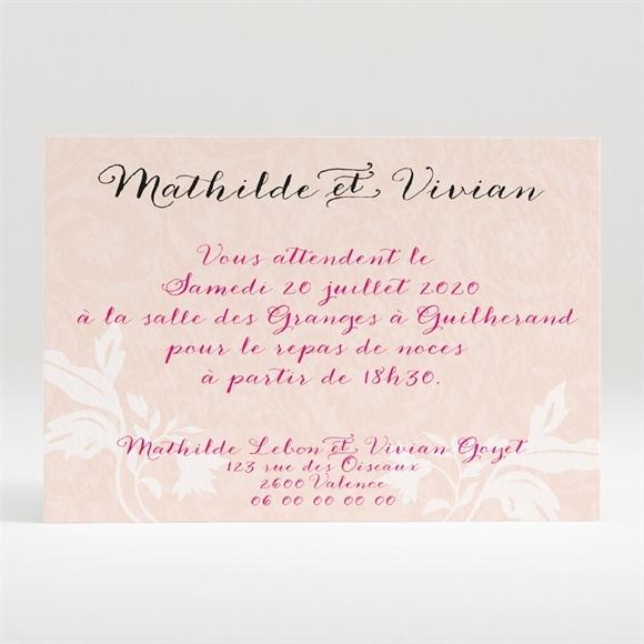 Carton d'invitation mariage Coeur en Liberty réf.N120301