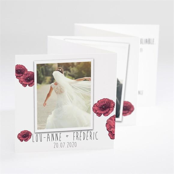 Remerciement mariage Champs de coquelicots réf.N80059