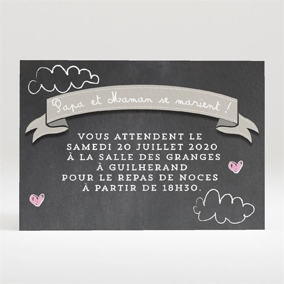 Carton d'invitation mariage Les enfants annoncent réf.N120303