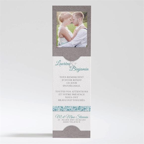 Remerciement mariage Liberty texturé réf.N200316