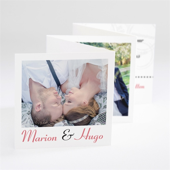 Remerciement mariage Photomaton et tampons réf.N80060