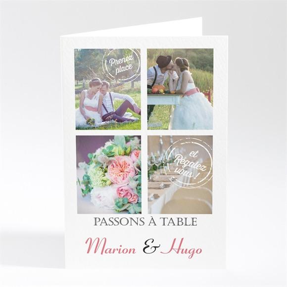 Menu mariage Photomaton et tampons réf.N401442