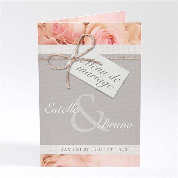 Menu mariage Jeu de fleurs et textures réf.N401450