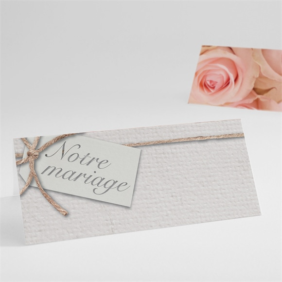 Marque-place mariage Jeu de fleurs et textures réf.N440392