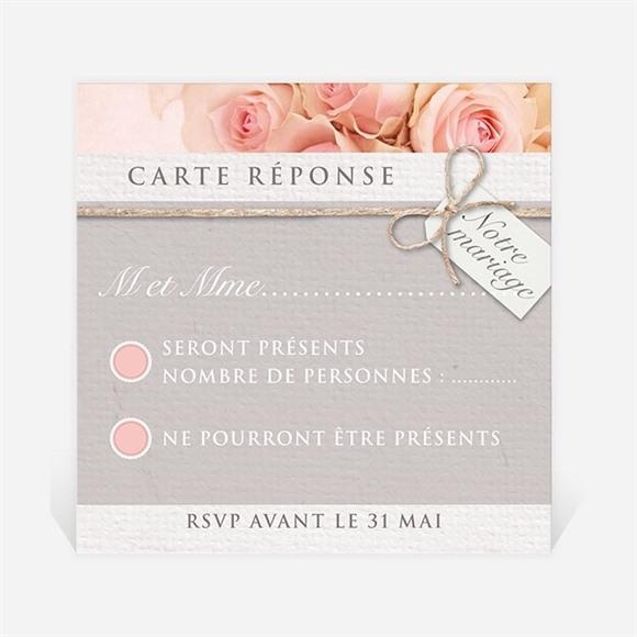 Carton réponse mariage Jeu de fleurs et textures réf.N300366