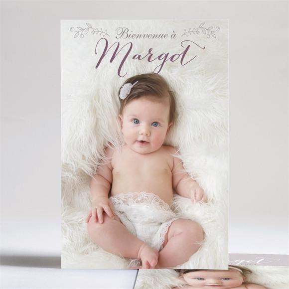 Faire-part naissance Faire part mixte avec photo réf.N24174
