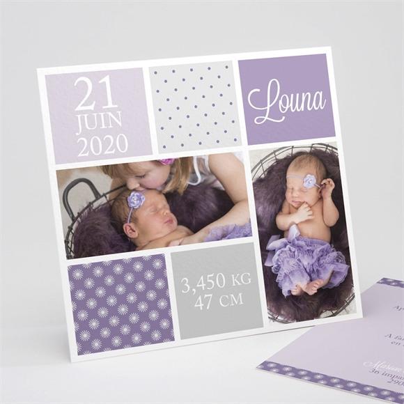Faire-part naissance Photos et imprimés féminins réf.N311105
