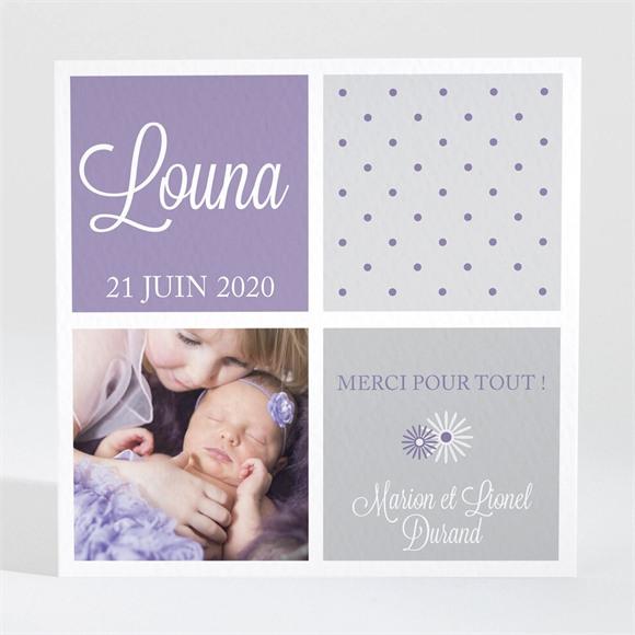 Remerciement naissance Photos et imprimés féminins réf.N300381